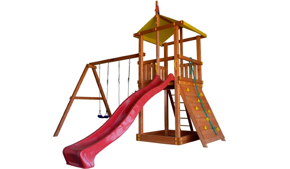 как оформить детскую площадку даче