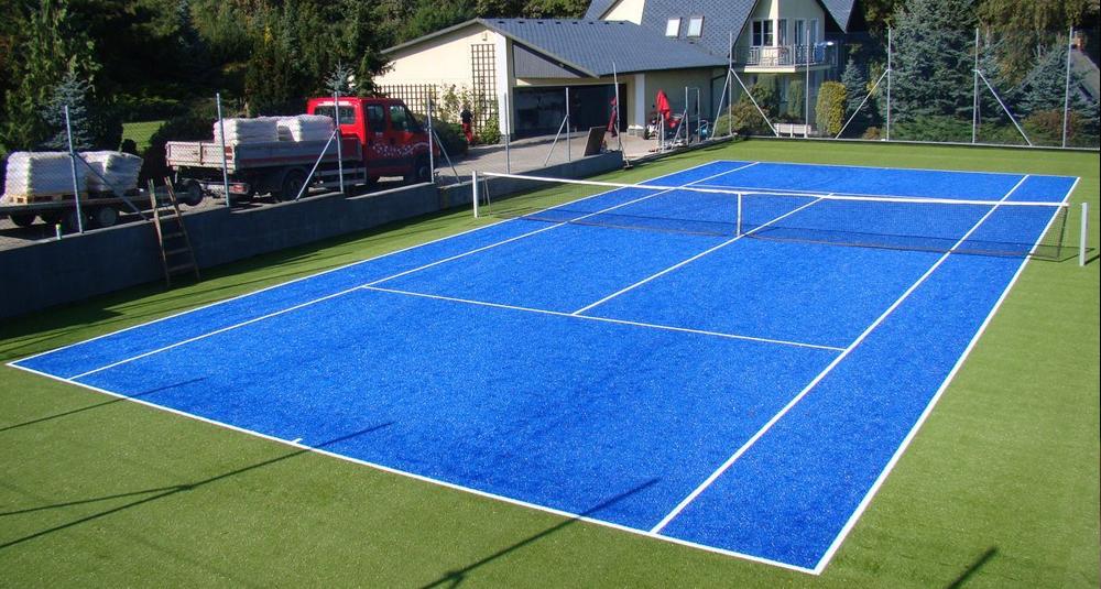 корт теннисный самому
