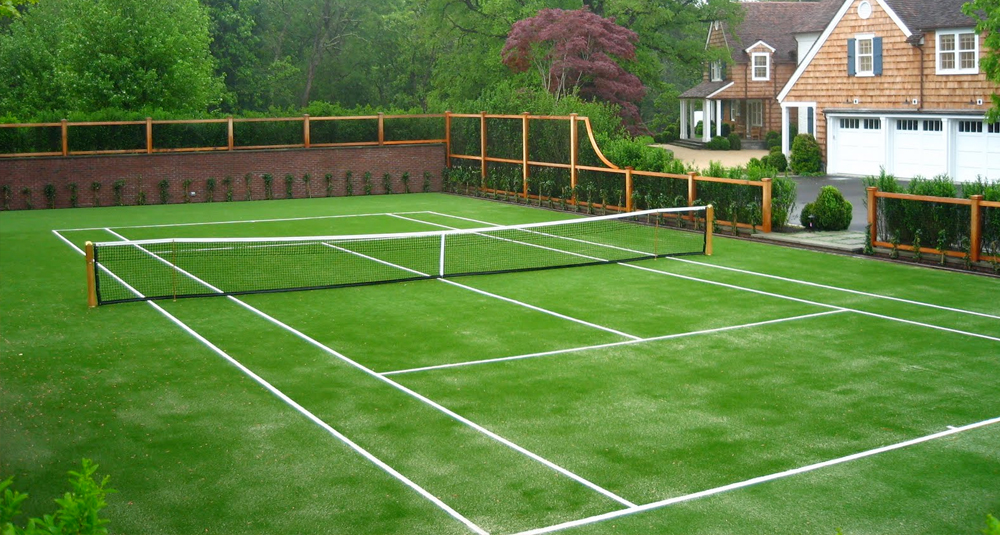 Как сделать теннисный корт на даче своими руками