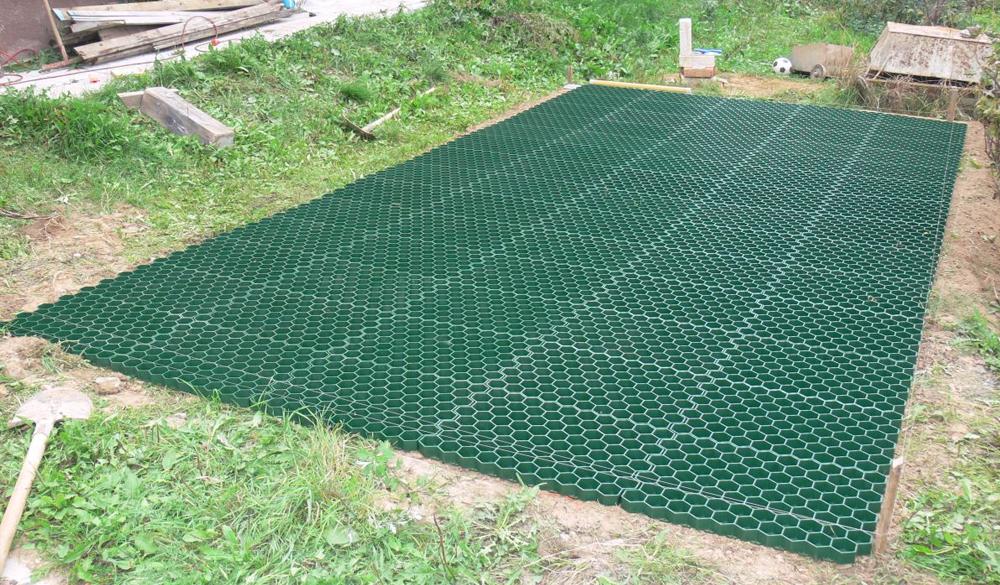 как укладывать газонную решетку