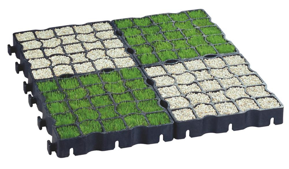 как положить газонную решетку