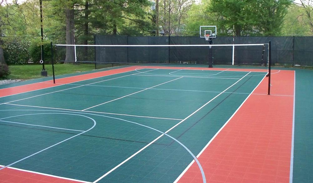 устройство покрытия спортивной площадки